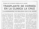 Primer trasplante de cornea en Sabadell
