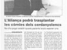 Trasplantes de corneas en la Aliança