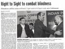 el derecho a ver para combatir la ceguera